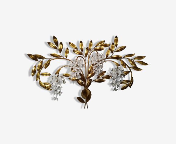 Masca italy spectaculaire applique fleurs et feuillage