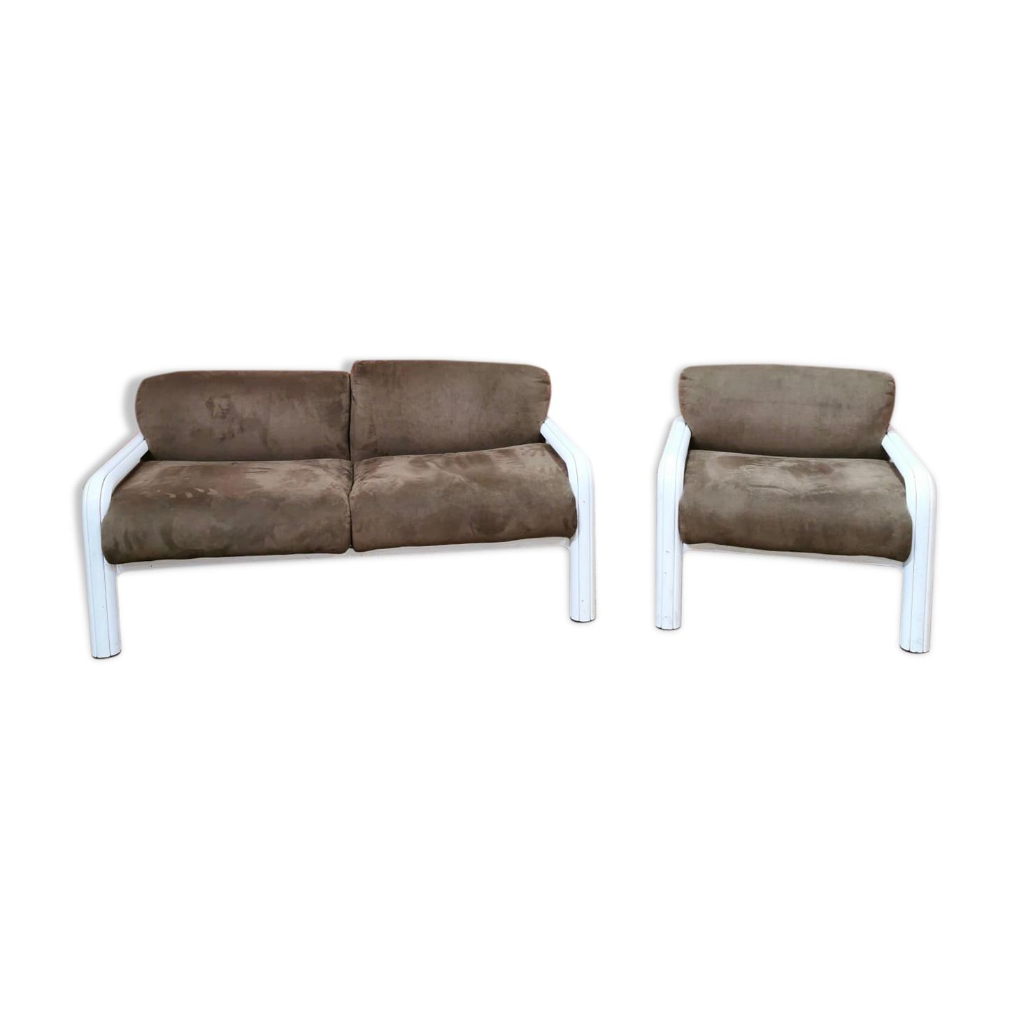 Ensemble canapé et fauteuil Gae Aulenti pour Knoll