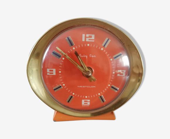 Réveil mécanique orange