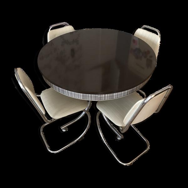 Selency Ensemble table et 4 chaises années 60