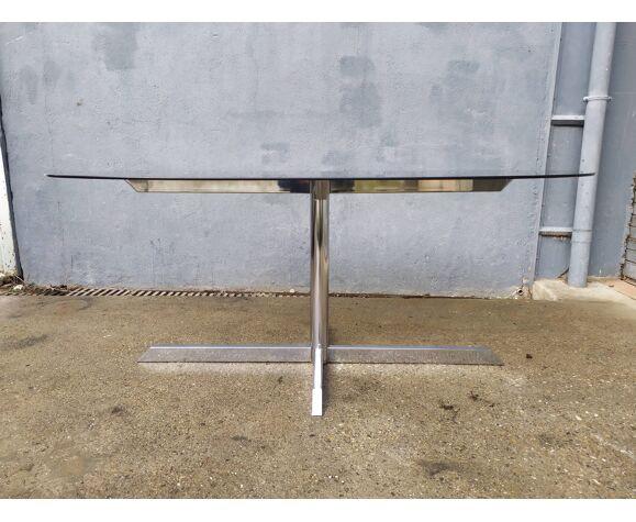 Table ovale chromé design