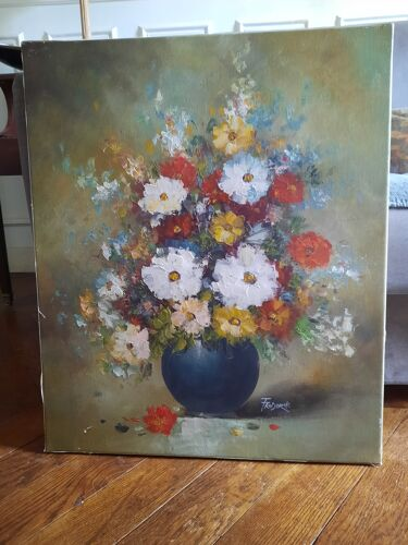 Painting flowers in a vase