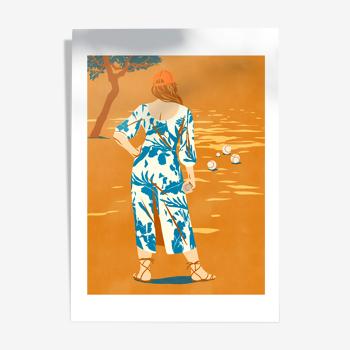 Le Tir, illustration A4