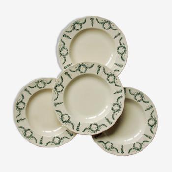 Set of 4 hollow plates garland foliage old longchamp villey