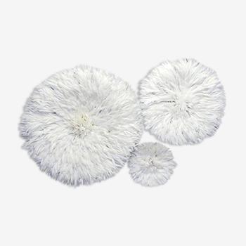 Ensemble de 3 juju hats blanc de 80 cm, 50 cm et 35 cm