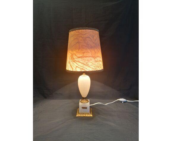 Lampe à poser Alabastro Espagne, en albâtre et bronze 1950