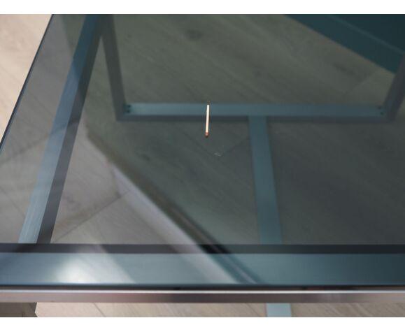 Table basse en verre, design danois, années 1970, fabriquée au Danemark
