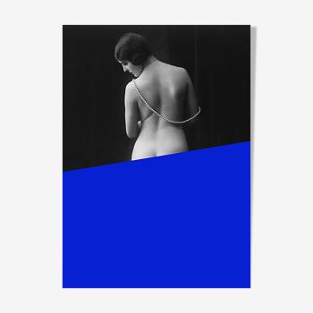 Photographie femme dos nu belle époque 1930 - a4