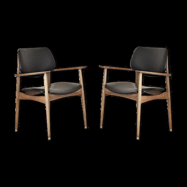 Paire de fauteuils années 1950