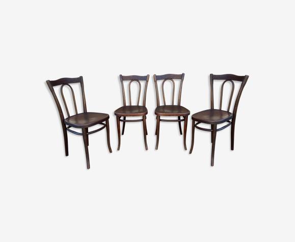 4 chaises bistrot bois courbé Thonet