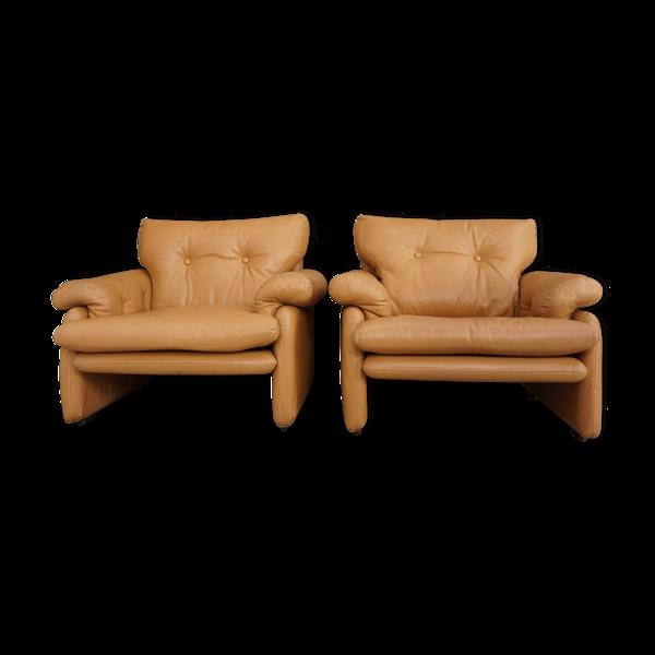 Paire de fauteuils par Tobia&Afra Scarpa pour B&B Italia 1960