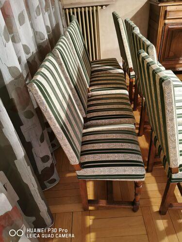 Lot 10 chaises salle à manger