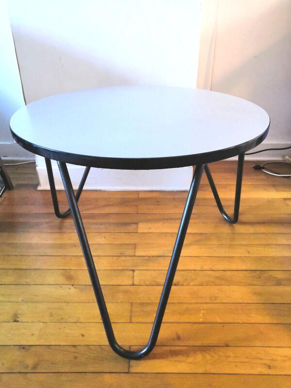 Table basse tripode design années 60 - 70