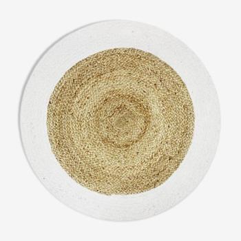Round carpet in jute 90 cm