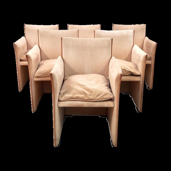 Ensemble de 6 fauteuils de pause Mario Bellini 401 - Cassina - années 1970