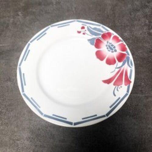 Assiette plate faïence St Amand modèle Gavarnie