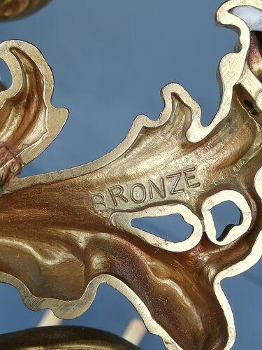 Paire d'appliques bronze de style louis xv