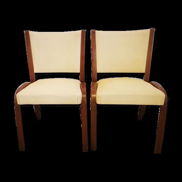 Paire de fauteuils Steiner modèle bow wood