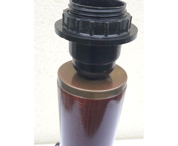 Pied de lampe de bureau en acajou h 44,5 cm