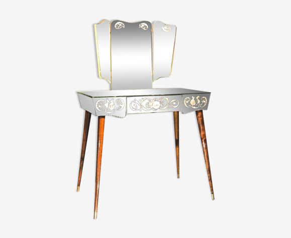 Coiffeuse miroir vintage année 50