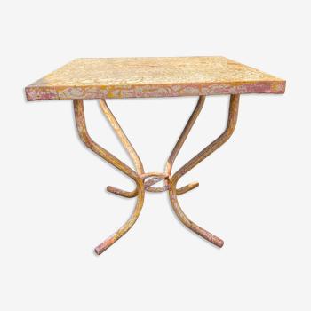 Table de jardin Tolix en métal 1960