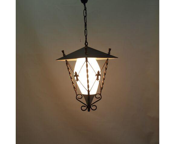 Lanterne fer forgé vintage