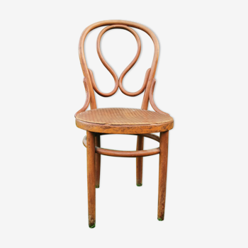 Old Thonet chair, labeled and signed, curved wood