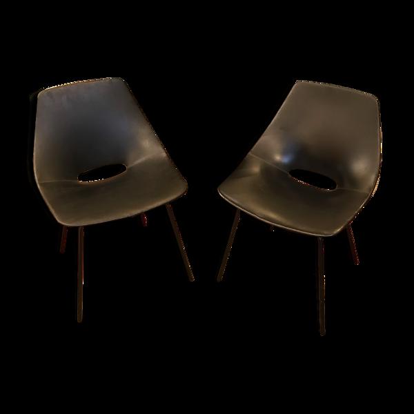 Paire de chaises par Pierre Guariche édition Steiner