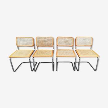 4 chaises B32 de Marcel Breuer