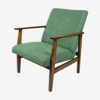 Fauteuil vert vintage années 70