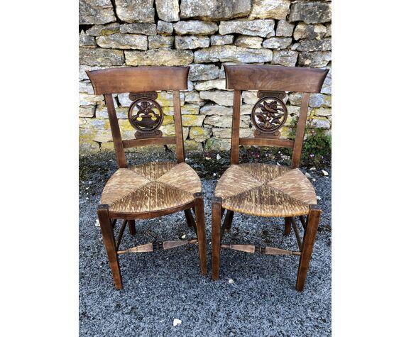 Paire de chaise début XIXe époque restauration