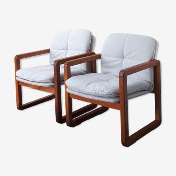 Paire de fauteuils scandinaves circa 1970