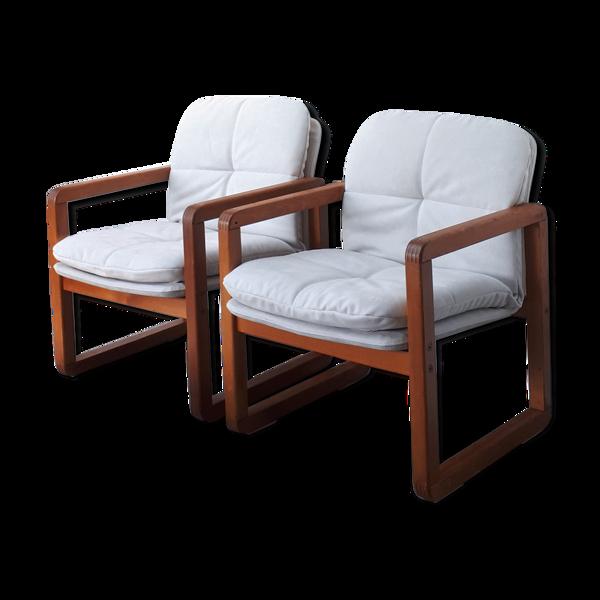 Selency Paire de fauteuils scandinaves circa 1970
