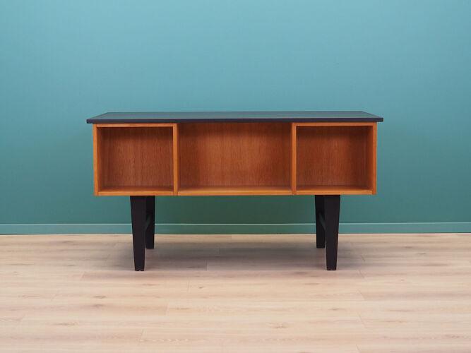 Bureau en chêne, années 70, design danois, fabriqué au Danemark