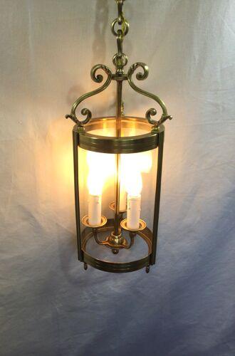 Lanterne en bronze o 3 lumières