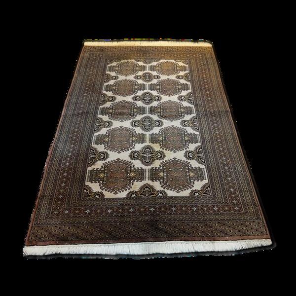 Tapis  205 x130 cm laine sur coton Pakistan