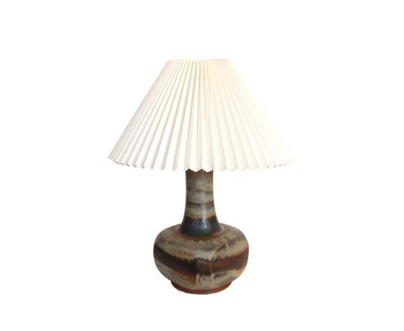Lampe de table en céramique de Jette Hellerøe pour Stentøj, Danemark 1960