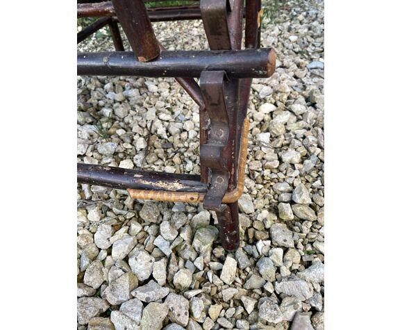 Chaise longue en osier 1900