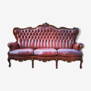 Ancienne banquette Chesterfield