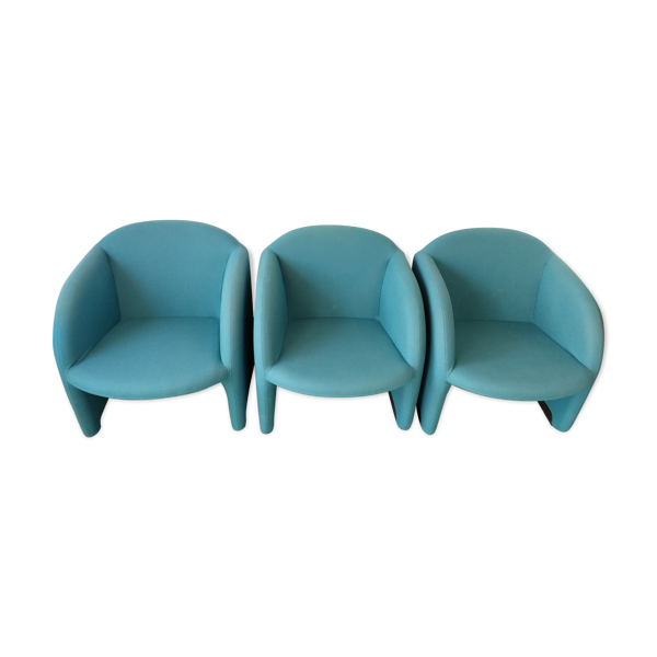 Selency Lot de 3 fauteuils par Ben Pierre Paulin pour Artifort