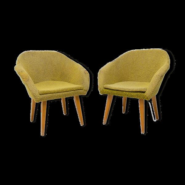 Paire de fauteuils, Tchécoslovaquie, années 1960
