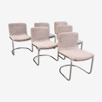 6 chaises modèle Lens par Giovanni Offredi 1968, édition Saporiti Italy