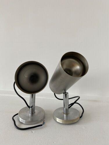 Paire de lampes appliques tuyau design années 70