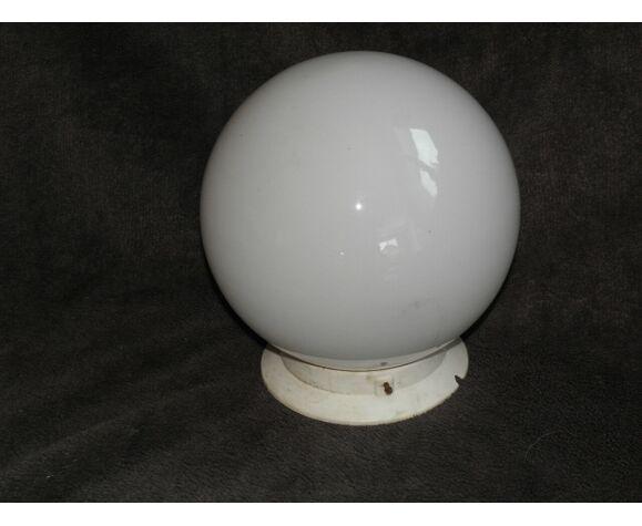 Glass globe ceiling light