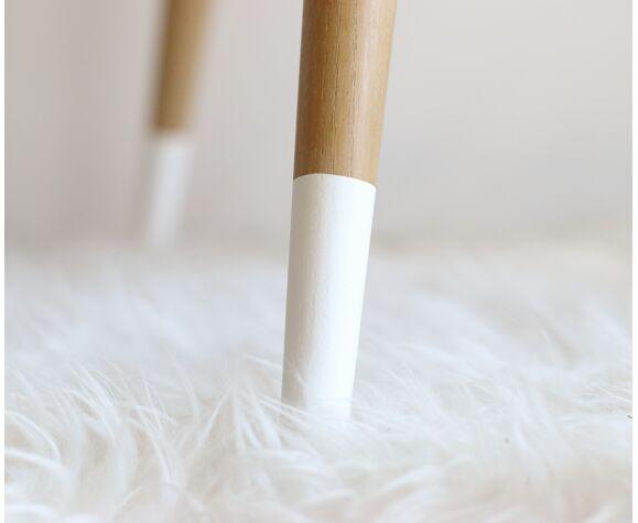Table basse tripode pieds compas revisitée