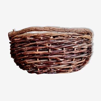 Corbeille ancienne en bois