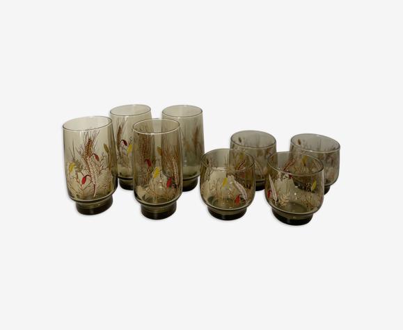 Set de 8 verres vintage