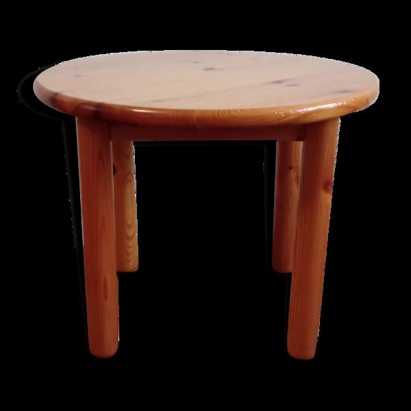 Table d'appoint en pin 1970