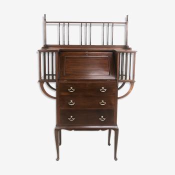 Antique arts &crafts spindled mahogany bureau