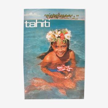 Affiche office de développement du tourisme Tahiti Erwin Christian